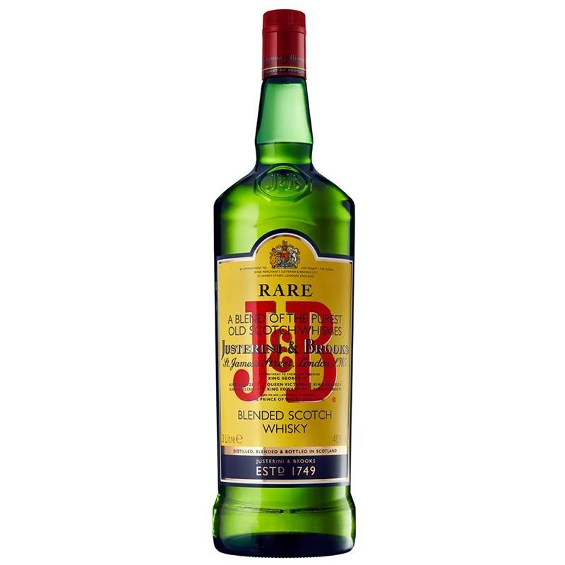 Whisky J&B, botella de 70cl