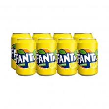 Fanta Limon lata, pack 8x33cl