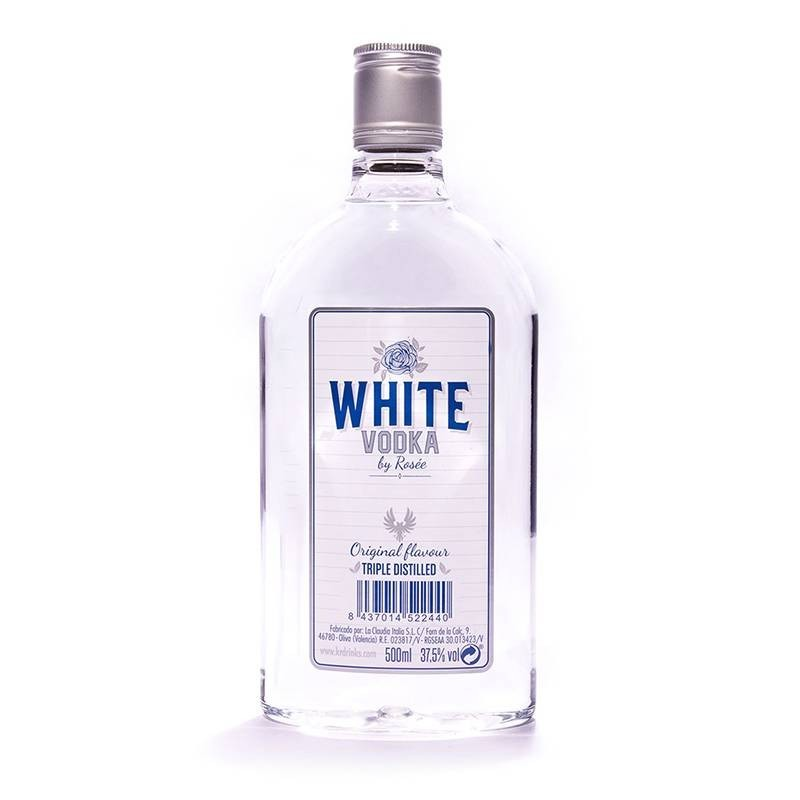Vodka Rosée White, botella plástico 0,5l
