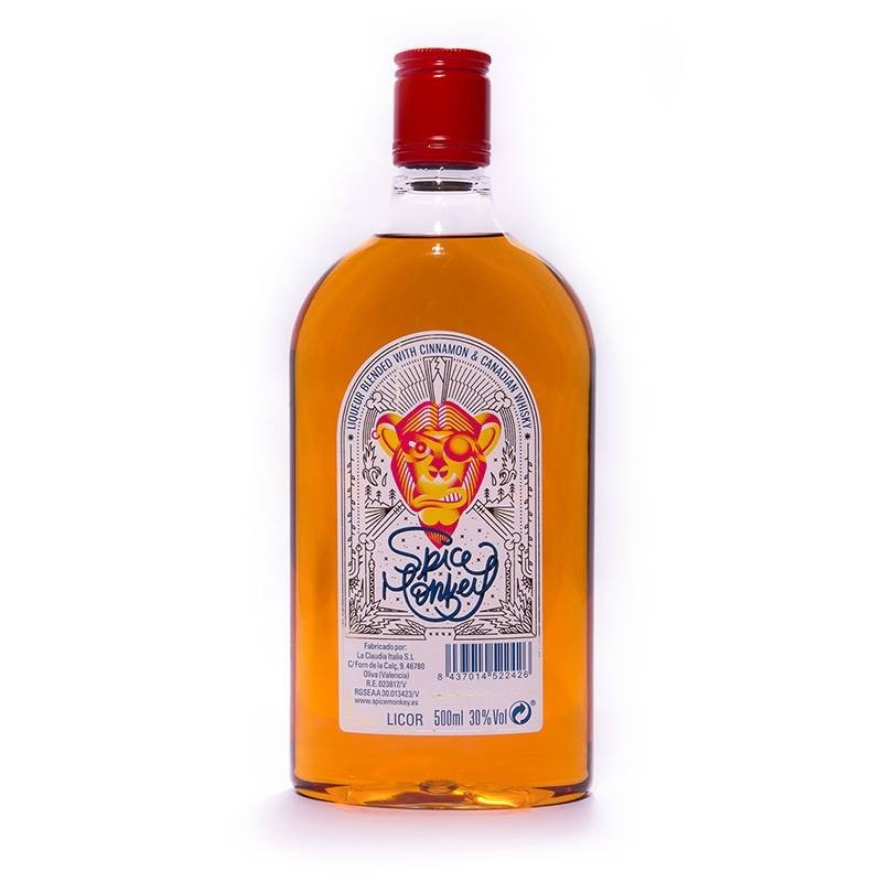 Spice Monkey, whisky con canelay chili, botella plástico 0,5l