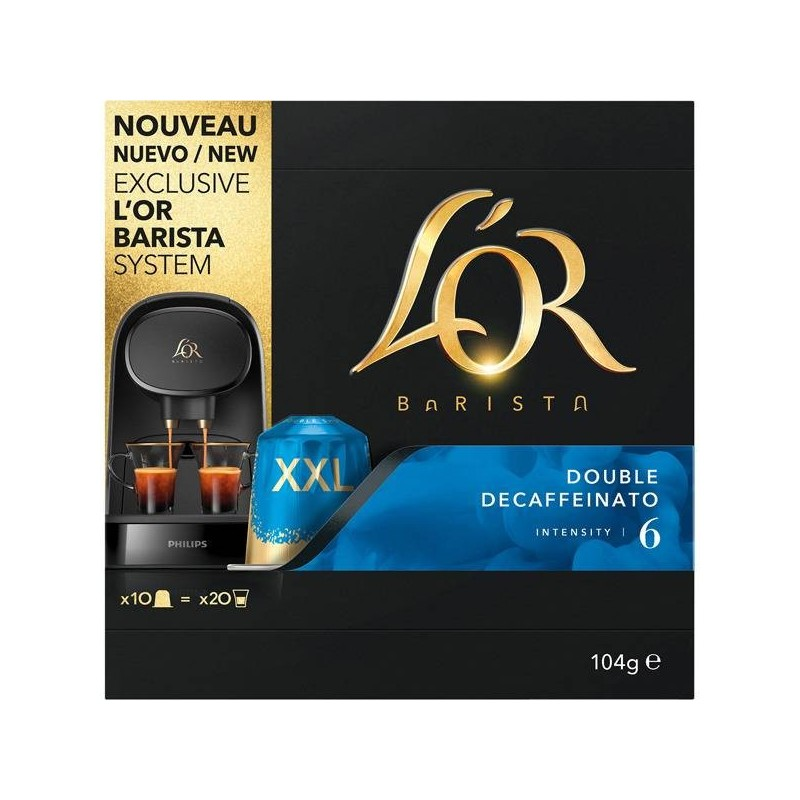 Double Decaffeinato L'or 10 cápsulas XXL Sistema L'or Barista