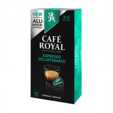 Espresso Descafeinado Café Royal, 10 cápsulas de Aluminio compatibles Nespresso