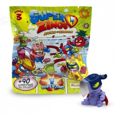SUPERZINGS, SERIE 3, RIVALS OF KABOOM, Paquete individual, 1 superzing