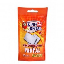 Chicle sabor Frutal 35 unidades SIN AZÚCAR King Regal