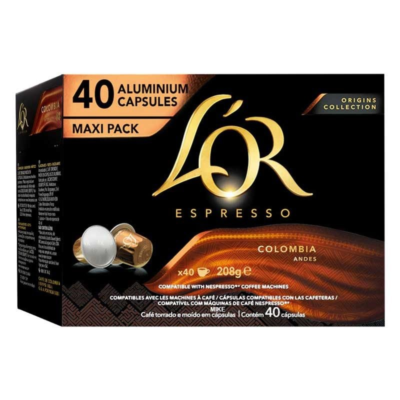 Colombia Andes L'OR Origins Collection, 40 Cápsulas Maxi Pack compatibles Nespresso®